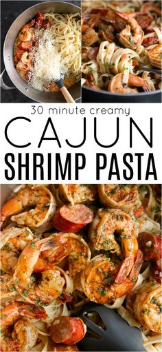 Creamy Cajun Shrimp Pasta Recipe , By Paula Michele . Smothered in a rich and luscious cream sauce, this Creamy Cajun Shr. Cajun Shrimp Pasta, Shrimp Pasta Recipes, Cajun Recipes, Seafood Recipes, Gourmet Recipes, Dinner Recipes, Cooking Recipes, Healthy Recipes, Cheap Recipes