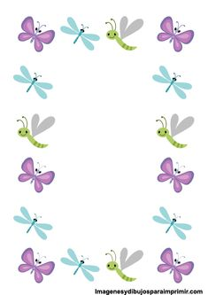 Printable Butterfly Border