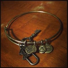 A Re Purposes Alex And Ani Bracelet Keys Locks Silver Jewelry Bracelets