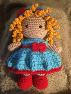 This is Ruby she is a Weebee Doll designed by Laura Tegg.