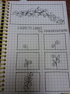 Freehand doodle patterns. Lots of good ones here.  B - wow, my doodles could be a lot more artsy!
