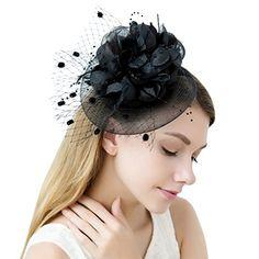 3ddbdb2b81a JaosWish Flower Fascinator Hats Women With Veil Feather Headband Headwear  Tea Party Derby. Stysecytetoe · Women s Caps Hat Patterns