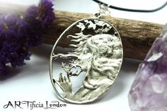 This unique pendant features a woman, or Mother Nature if you like, holding a thistle. It measures 4.4cm x 3.1cm, and a delicate fern leaf attaches the pendant to the necklace. - All the metals which I use for making my jewellery are Cadmium, Lead & Nickel free -. | eBay!