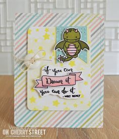 """Created using the Sweet Stamp Shop """"On Cherry Street"""" Magical kit. Also the """"Dragon"""" stamp set by Sweet Stamp Shop."""