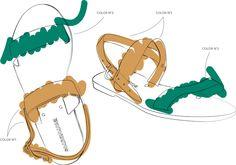 Erotokritos – Color Your Dinos Sandals
