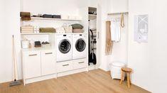 maximaal gebruik ruimte wand zolder wasmachine