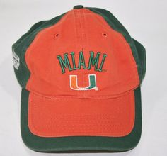 lowest price dd265 9525a ESPN College Game Day University of Miami (Florida) Hurricanes Baseball Hat  Cap
