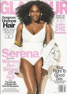 Glamour magazine Serena Olympians Williams Undone hair Summer style Fashion