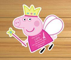 Peppa the pig invitations  Princess Peppa by BirthdayPartyBox