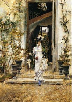 G. Boldini - Berthe esce per la passeggiata. 1874