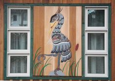 "71"" x 49"" red cedar panel. Blue Heron Design. Installed on outside of house. www.curtiswilson.ca"