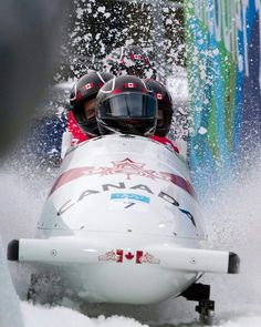 Bobsleigh - Vancouver 2010 Olympics Vancouver Winter, Youth Olympic Games, 2010 Winter Olympics, Bobsleigh, I Am Canadian, Bob S, Winter Games, True North, Extreme Sports