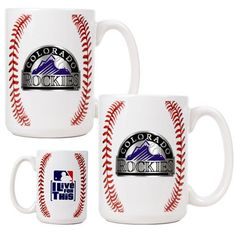 >>> Check out this great image : MLB Colorado Rockies Two Piece Ceramic Gameball Mug Set - Primary Logo at Coffee and Stuff.