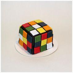 Rubik Cube Mini Cake Mini Cakes, Butter Dish, Cube, Dishes, Plate, Tableware, Cutlery, Dish, Kitchen Utensils