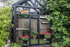 Thinking of building a catio for your cat? Check out these beautiful examples of outdoor cat enclosures designed by Cynthia Chomos of Catio Spaces in Seattle! Outdoor Cat Enclosure, Diy Cat Enclosure, Reptile Enclosure, Cat Run, Cat Playground, Cat Garden, Cat Condo, Outdoor Cats, Outdoor Spaces