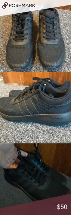 save off ad09c 9978c Adidas Black running shoes All black, never really worn. Maybe a few times.