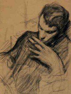 Леонид Осипович Пастернак (1862-1945) (отец писателя и поэта Бориса Пастернака).   Два портрета сына за работой.