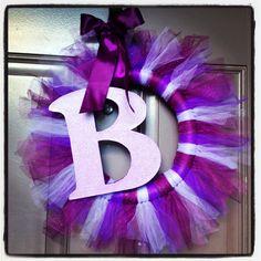 Door hanger. Purple baby shower. Baby girl.