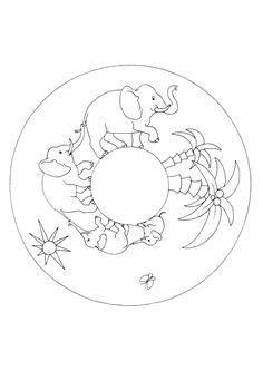 A colorier un gros l phant rigolo jungle theme - Dessin elephant rigolo ...