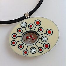 "Palette pendant by Victoria Varga (Silver & Stone Necklace) (2"" x 2.5"")"