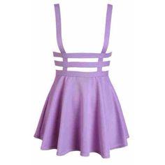 Pastel Goth Lilac Suspender Skirt Pastel Skirt ($24) ❤ liked on Polyvore featuring skirts, dresses, bottoms, black, women's clothing, pastel skirt, black skirt, gothic skirt, goth skirt and black knee length skirt