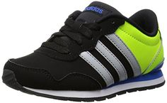 adidas Unisex Baby V Jog K Turnschuhe, Negro / Amarillo / Gris (Negbas / Onicla / Amasol), 38 2/3 EU - http://on-line-kaufen.de/adidas-neo-10/38-2-3-eu-adidas-maedchen-v-jog-k-laufschuhe-vispnk-2
