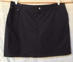 Womens Black Skort size 20w 2x #CroftBarrow #Skort