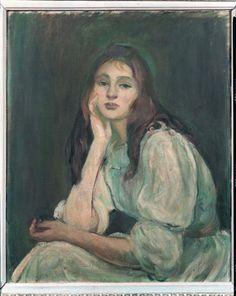"""Julie rêveuse,"""" 1894 (Berthe Morisot's daughter Julie Manet), Berthe Morisot"""