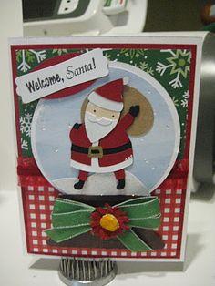 Cricut Cartridge Winter Frolic - Santa cut at 2.5  Cricut Cartridge Joys of the Season -   Globe is cut at 4.5