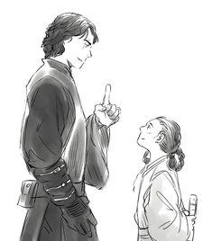 Anakin and leia
