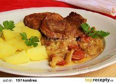Krkovice pečená na hlávkovém zelí recept - TopRecepty.cz No Salt Recipes, Pork Recipes, Cooking Recipes, Pot Roast, Food And Drink, Soup, Beef, Treats, Chicken