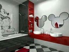 MICKYMANIA en el cuarto de baño.