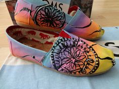 Toms Sunset Blend Dreamcatchers.....2 of my favorite things bonding in a shoe...omg....amazing