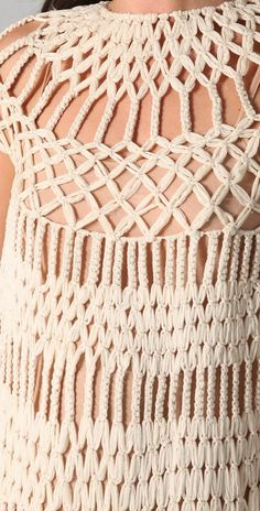 James Long Full Macrame Dress