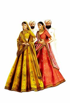 Dress Design Sketches, Fashion Design Drawings, Sketch Design, Fashion Sketches, Art Sketches, Art Drawings, Indian Illustration, Dress Illustration, Fashion Illustration Dresses