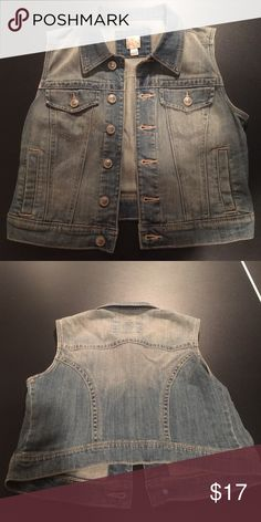 LC Lauren Conrad Jean Vest Worn a few times. Good condition. LC Lauren Conrad Jackets & Coats Vests