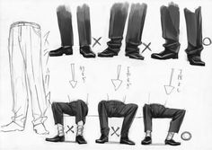 Suit pants art body reference