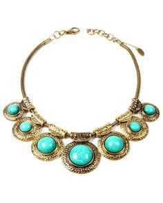 Amrita Singh Hamptons Plated Resin Bib Necklace