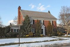 Classic Brick Center Hall Colonial home at 111 Chester Ave Garden City, Long Island NY