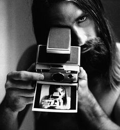 Awesome photograph of Mick Fleetwood of Fleetwood Mac, with a Polaroid Wish I knew who the photographer was. Any ideas. Via: Iain Claridge Polaroid Vintage, Vintage Cameras, Fleetwood Mac, Stevie Nicks, Moustaches, Black And White Portraits, Black And White Photography, Instant Camera, Vintage Birthday
