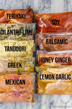 9 pork chop marinades are easy to mix up and add so much flavour to your pork chops. Marinate and then grill, pan fry, or bake, or freeze for later! Curry Marinade, Pork Chop Marinade, Bbq Pork Ribs, Grilled Pork Chops, Pork Loin, Brining Pork Chops, Pork Tenderloin Marinade, Pan Fried Pork Chops, Marinate Meat