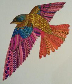 Mindfull kleuren Vogel
