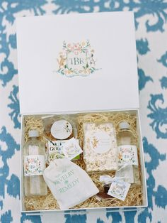 A Signature Welcome custom wedding welcome gift. photo by Ryan Ray Photography.