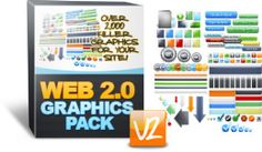"""Web 2.0 Graphics Pack - """"Grab Over 2,000 Professional, Ready To Go Mini Site Graphics!"""". Yours For Just $27.00!! Click The Image For More Info."""