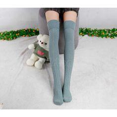 Free Shipping Women Winter Warm High Knee Leg Warmers Knit Crochet Boot Socks Slouch