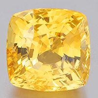 Large cushion cut Unheated Untreated Certified Yellow Sapphire for Vedic Astrology (Jyotish) and Ayurveda 9.52 carats