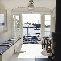 38 Amazing Summer House Interior Design Ideas With Beach Theme - SearcHomee Coastal Cottage, Coastal Homes, Coastal Style, Coastal Living, Lake Cottage, Seaside Style, Interior And Exterior, Interior Design, Dream Beach Houses