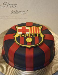 FC Barcelona inspirerad tårta