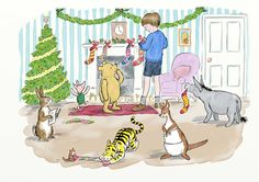 The Christmas traditions worth saving before they're lost, as illustrated by Winnie-the-Pooh Winnie The Pooh Pictures, Winnie The Pooh Quotes, Winnie The Pooh Friends, Send Christmas Cards, Christmas Images, Christmas Carol, Cozy Christmas, Christmas Quotes, Family Christmas