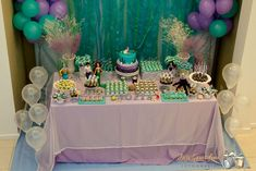 The Little Mermaid Birthday Party Ideas | Photo 4 of 15 | Catch My Party
